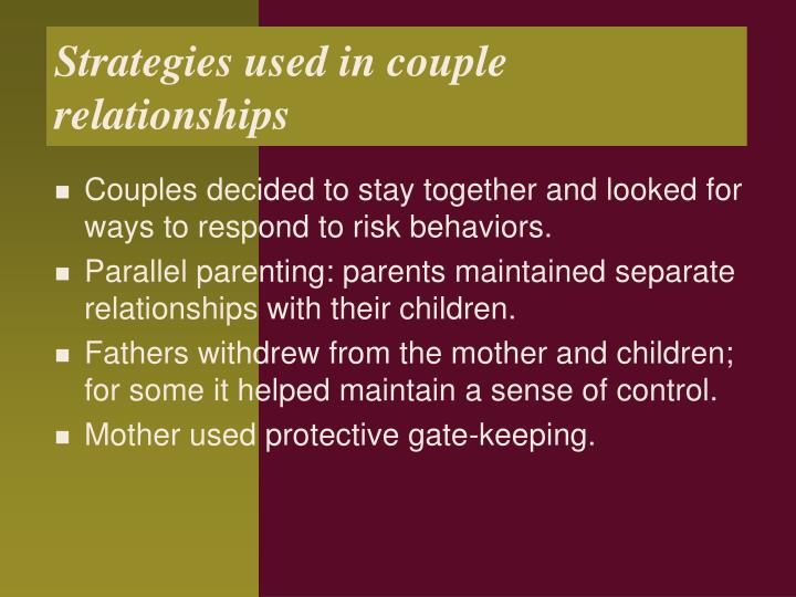 Strategies used in couple relationships