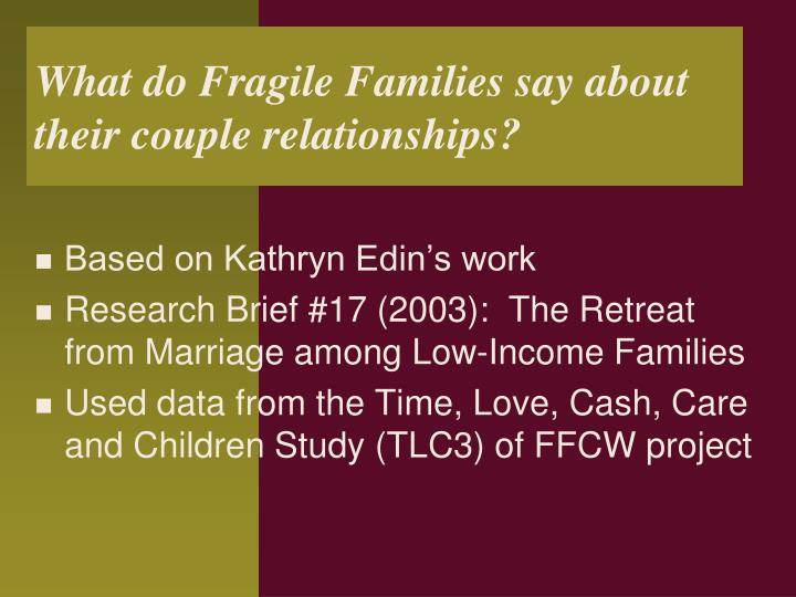 What do Fragile Families say about their couple relationships?