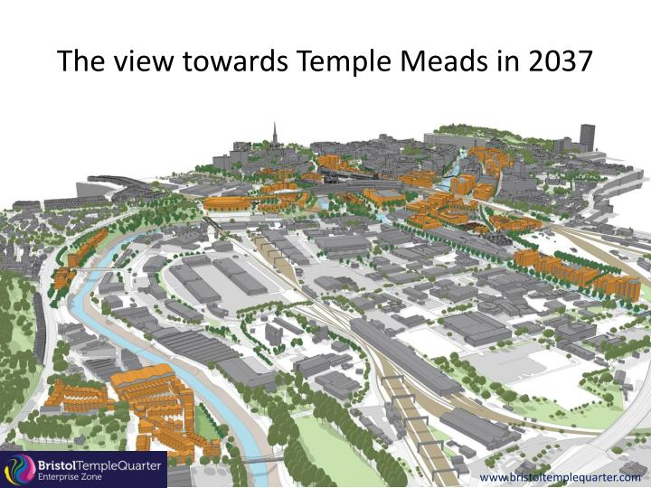 The view towards Temple Meads in 2037