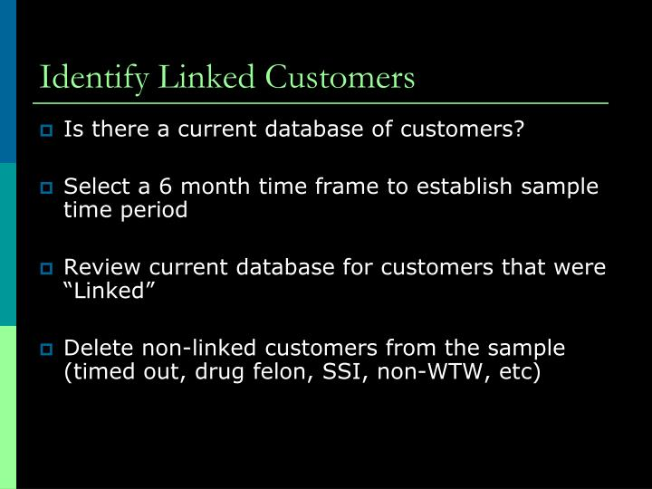 Identify Linked Customers