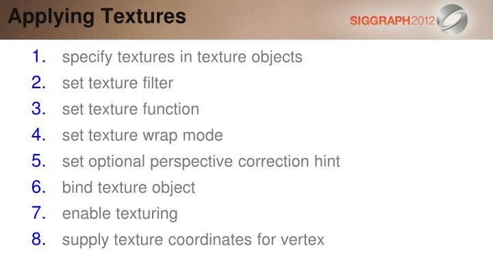 Applying Textures