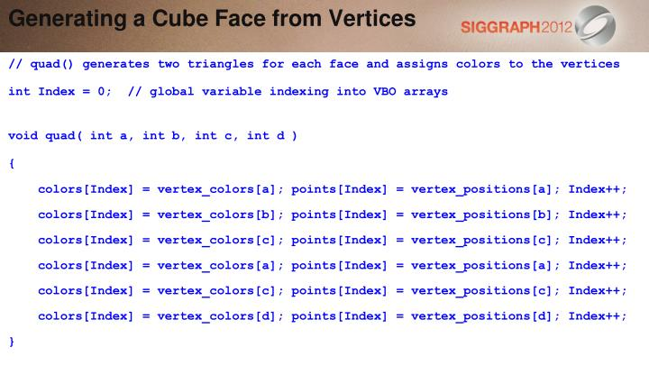 Generating a Cube Face from Vertices