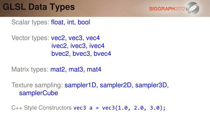 GLSL Data Types