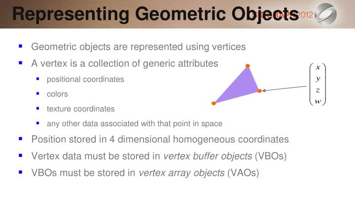 Representing Geometric Objects