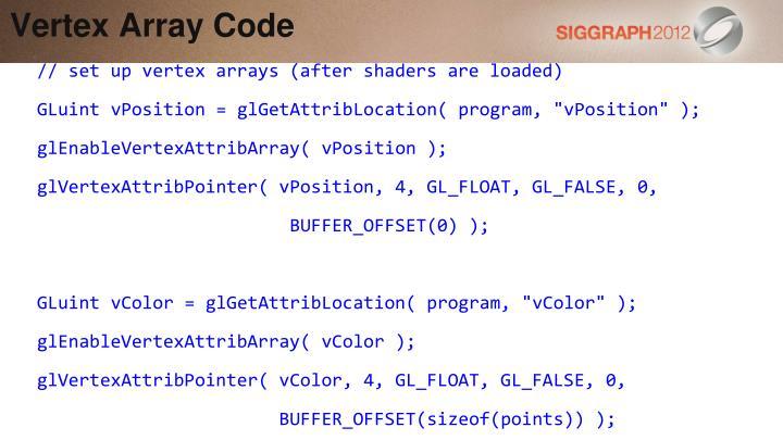 Vertex Array Code