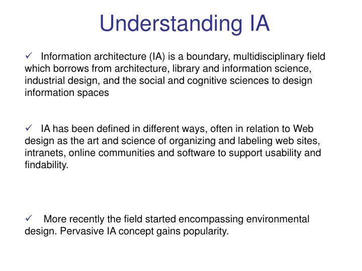 Understanding IA