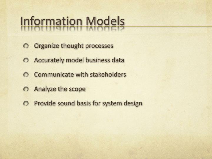 Information Models