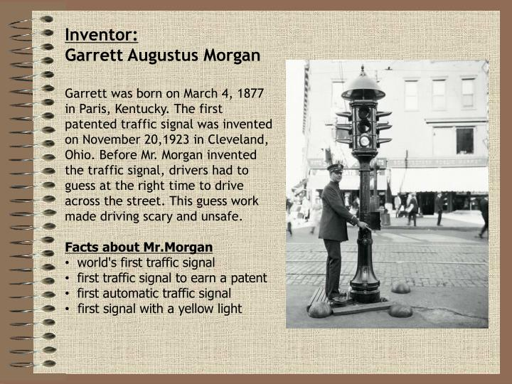 a biography of garrett augustus morgan Garrett morgan biography garrett augustus morgan, sr was an american inventor whose curiosity and innovation led him to develop several commercial products, the successors of which.