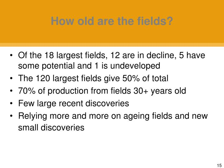 How old are the fields?
