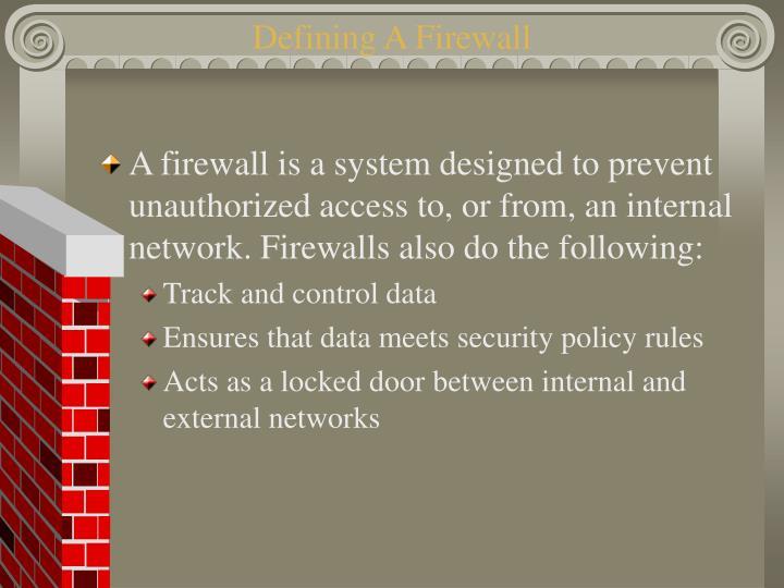 Defining A Firewall