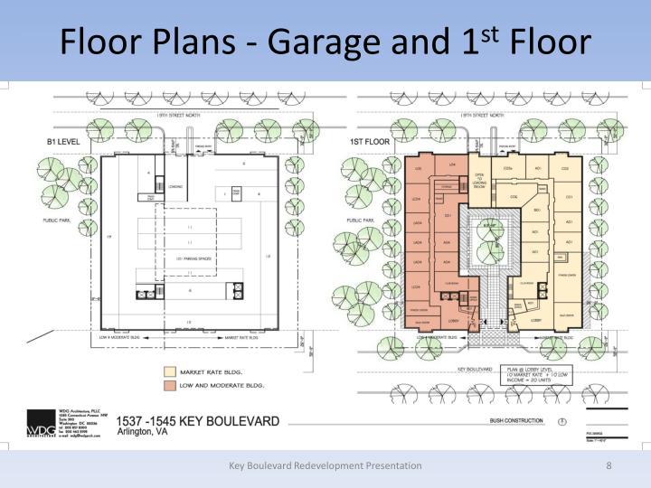 Floor Plans - Garage and 1