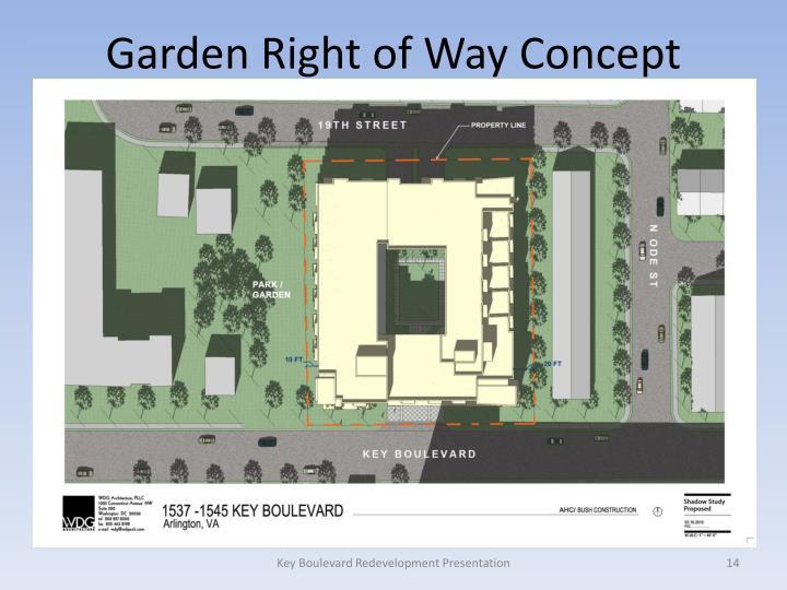 Garden Right of Way Concept
