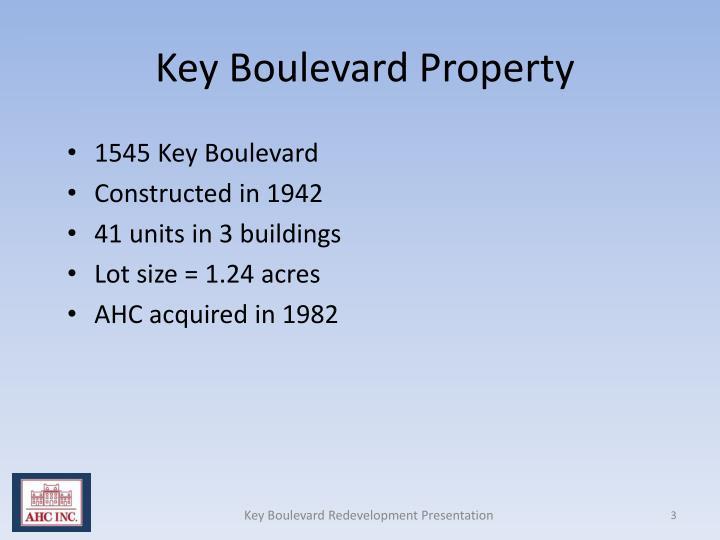 Key Boulevard Property