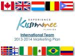 internationa l team 2013 2014 marketing plan