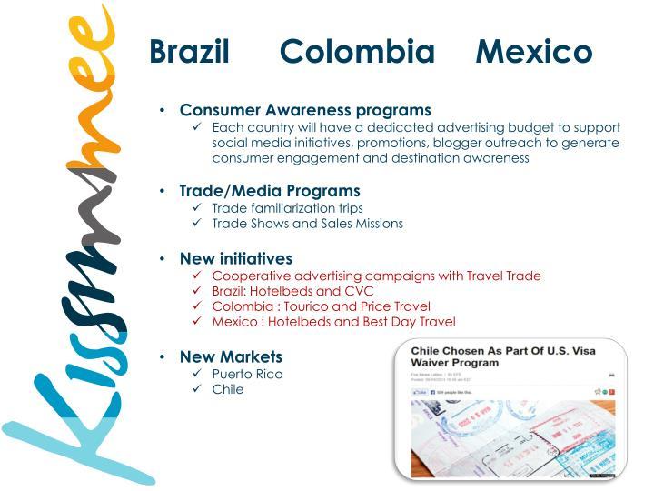 BrazilColombiaMexico