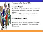 essentials for gds