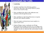 essentials for gds1
