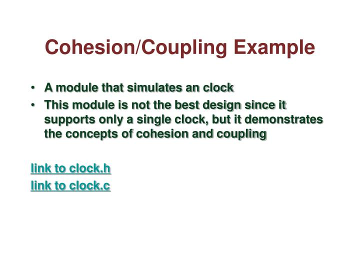 Cohesion/Coupling Example