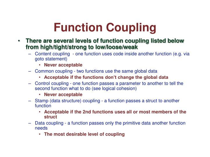 Function Coupling