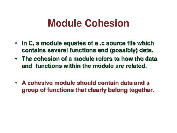 Module Cohesion