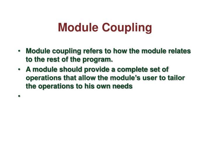 Module Coupling