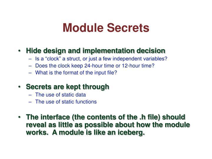 Module Secrets