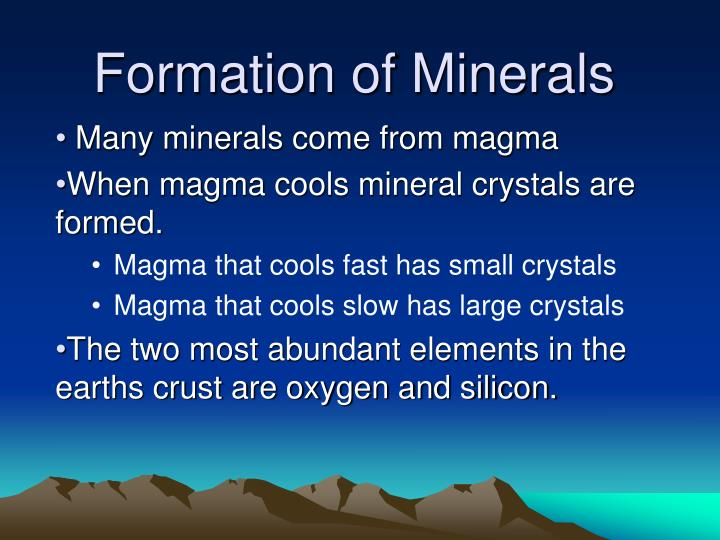 Formation of Minerals