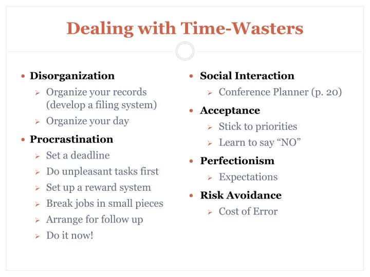 Dealing with Time-Wasters