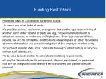 funding restrictions