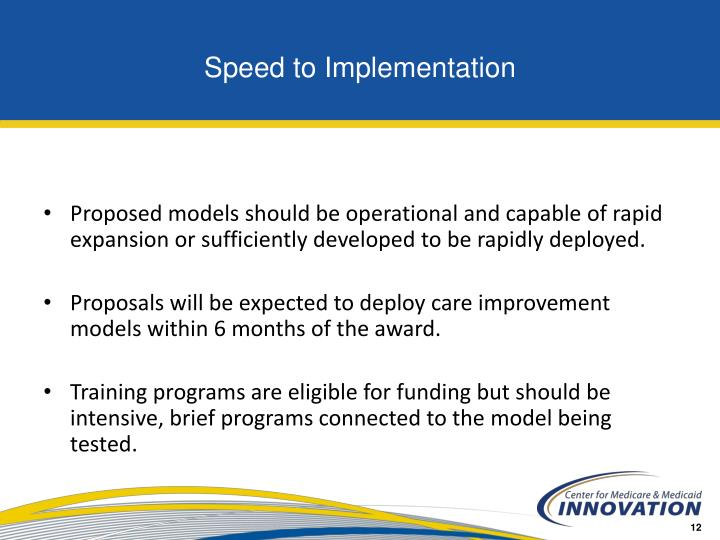 Speed to Implementation