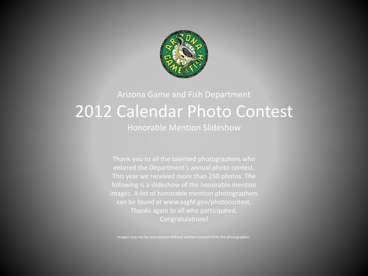 arizona game and fish department 2012 calendar photo contest honorable mention slideshow