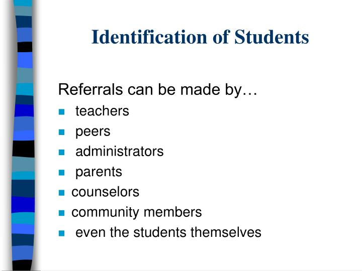Identification of Students