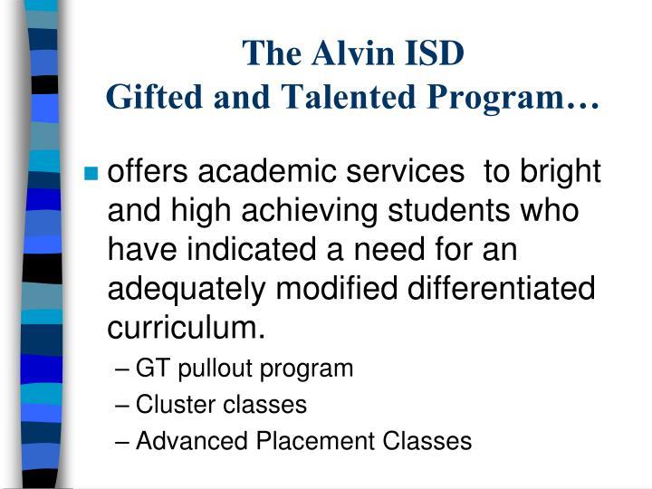 The Alvin ISD