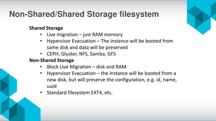 Non-Shared/Shared Storage