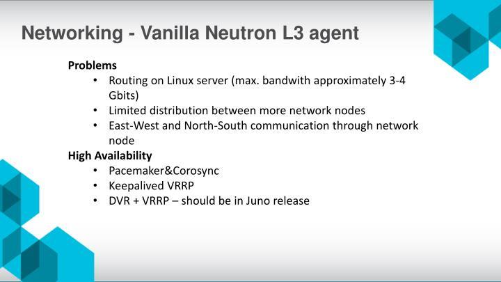 Networking - Vanilla Neutron L3 agent