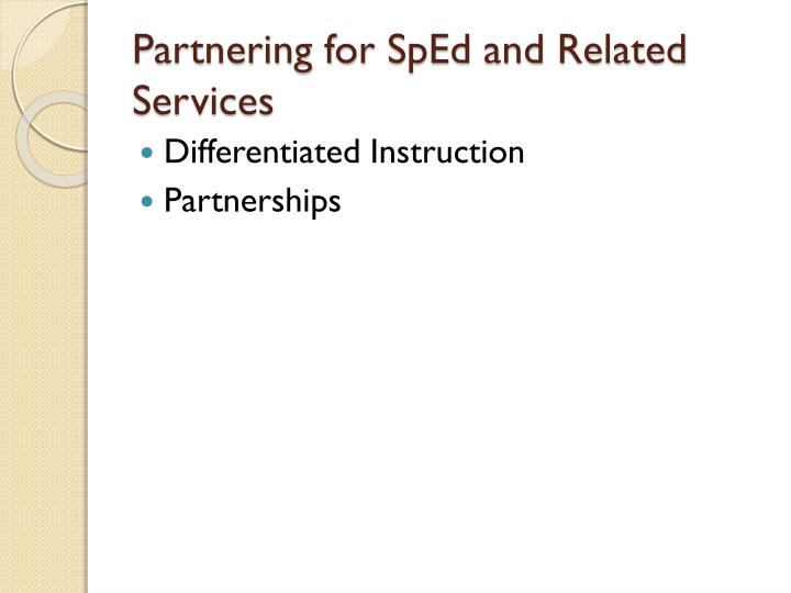 Partnering for