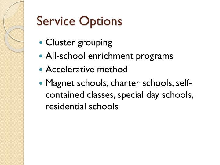 Service Options