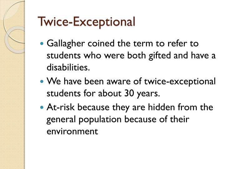 Twice-Exceptional