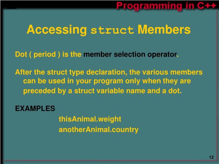 Accessing