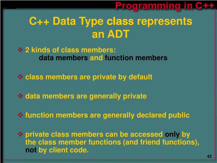 C++ Data Type