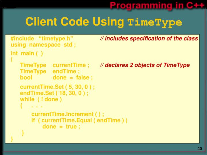 Client Code Using
