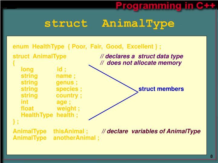 struct  AnimalType