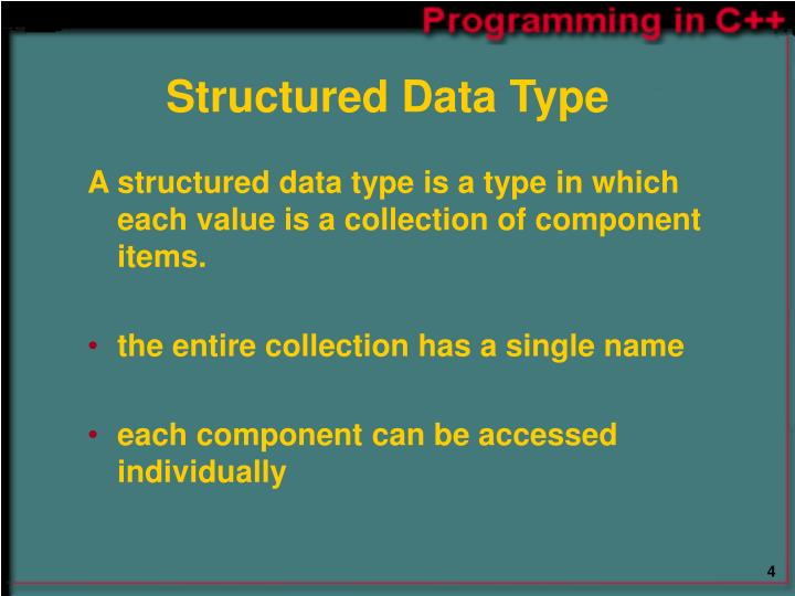 Structured Data Type