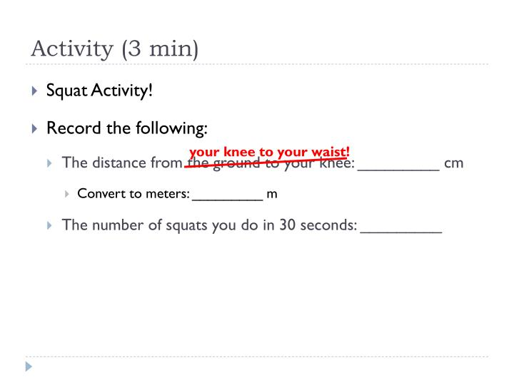 Activity (3 min)