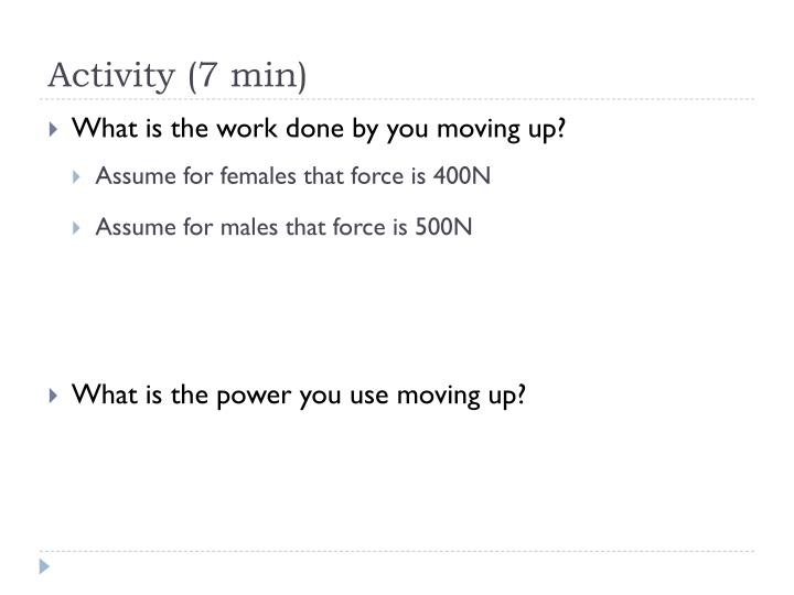 Activity (7 min)