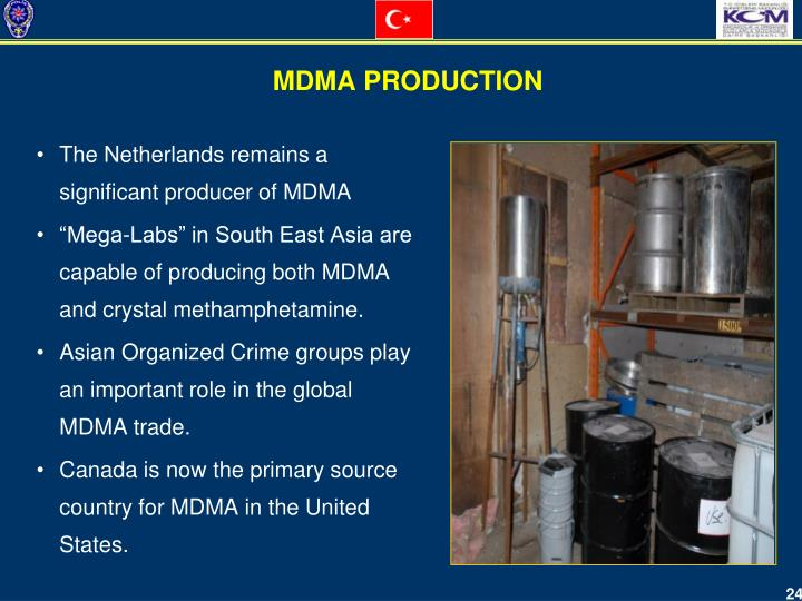 The Netherlands remains a significant producer of MDMA