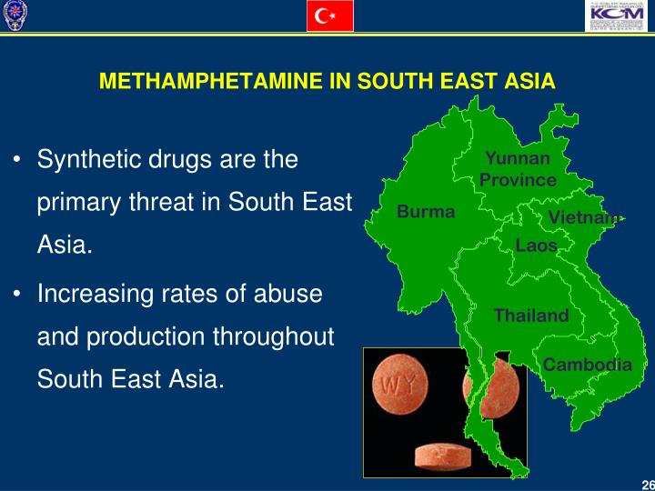 Synthetic drugs are the primary threat in South East Asia
