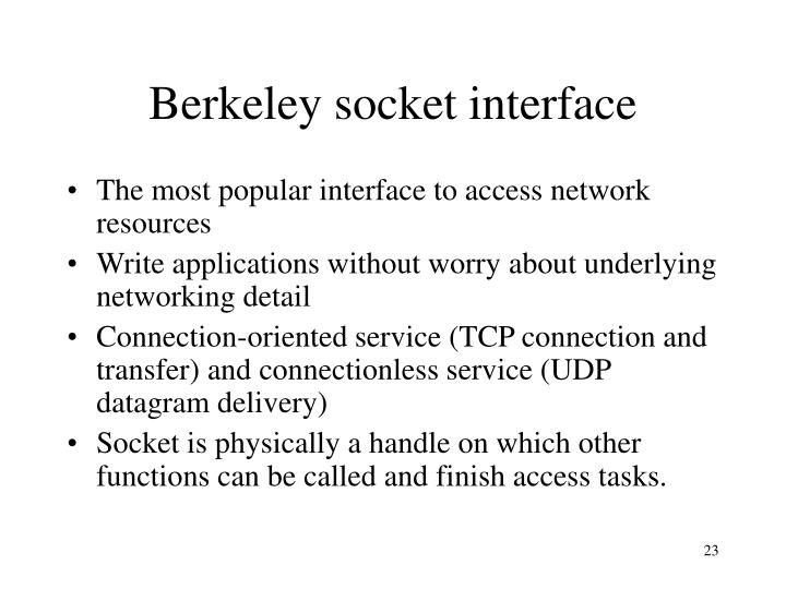 Berkeley socket interface