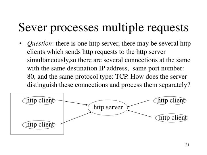 Sever processes multiple requests