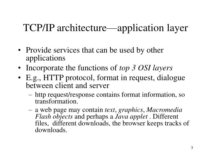 TCP/IP architecture—application layer
